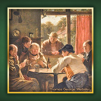 """Painting """"The Card Players"""" by Thomas George Webster"""