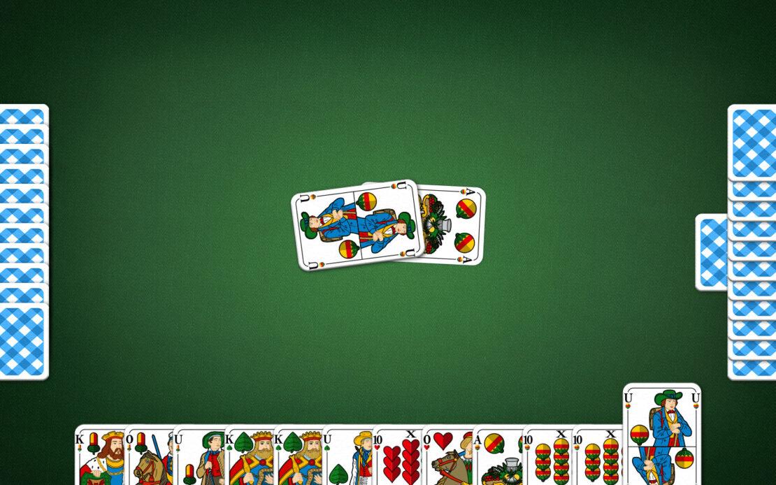Binokel-Spielfeld - Farbe bedienen