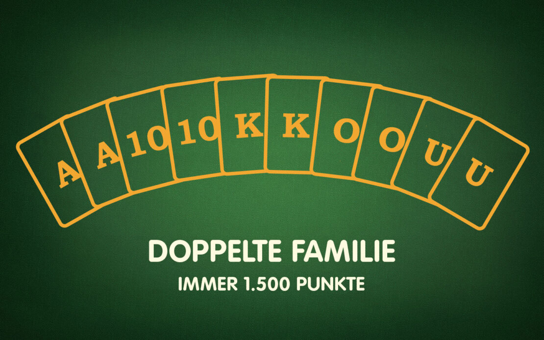 Binokel-Meldungen - doppelte Familie