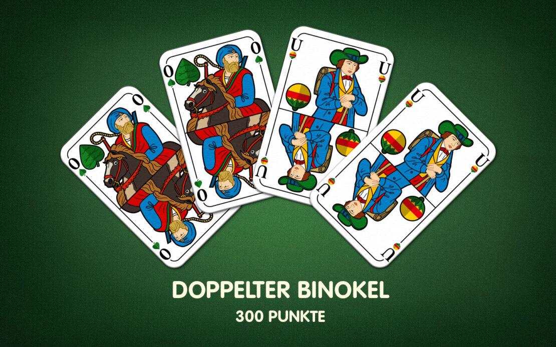 Binokel-Meldung - doppelter Binokel