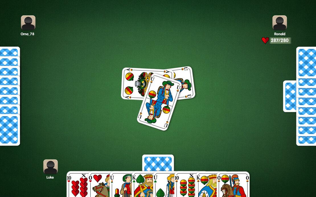 Binokel-Spielfeld: Reizwert erreicht