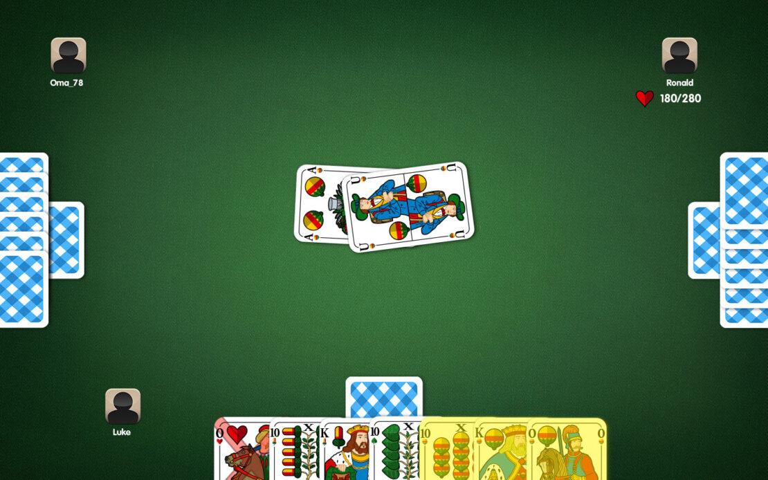 Binokel-Spielfeld - Beispiel Bedienzwang