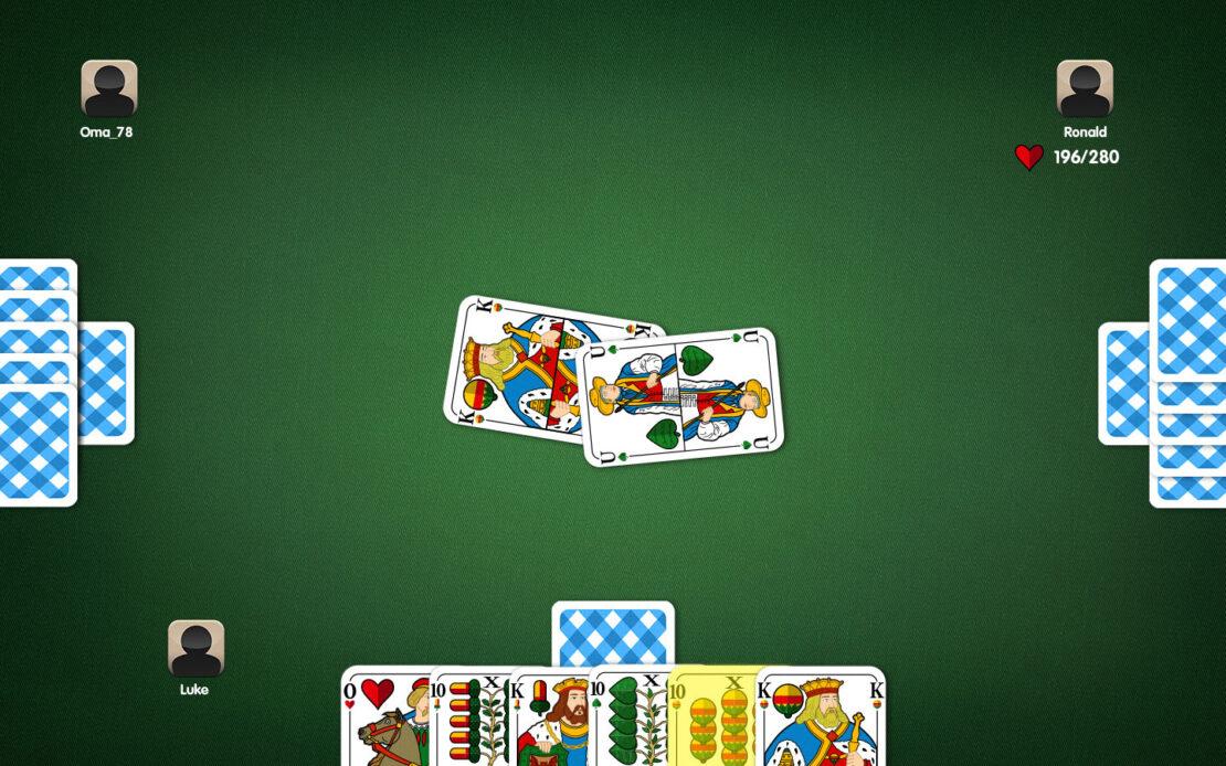 Binokel-Spielfeld - Beispiel Stichzwang