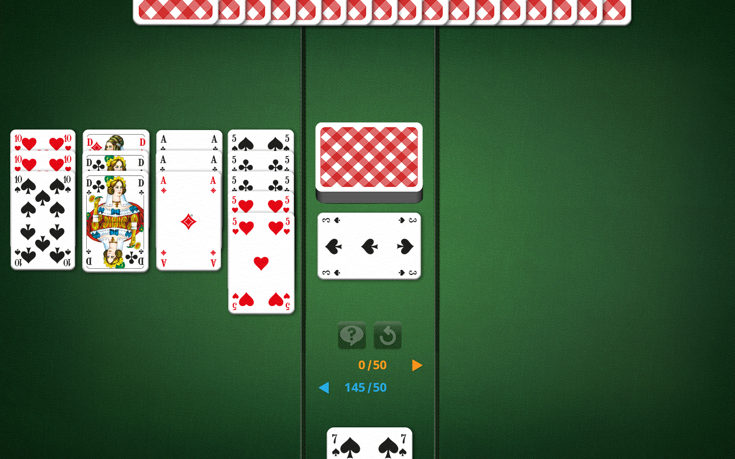 Canasta Playing Field With Multiple Melds