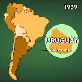 Landkarte Südamerika: Entstehungsort Canasta