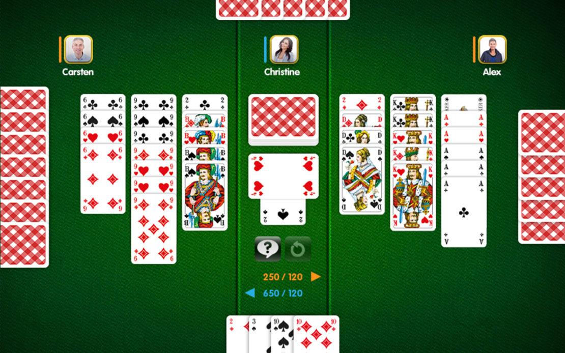 Canasta-Spielfeld: 4 Spieler