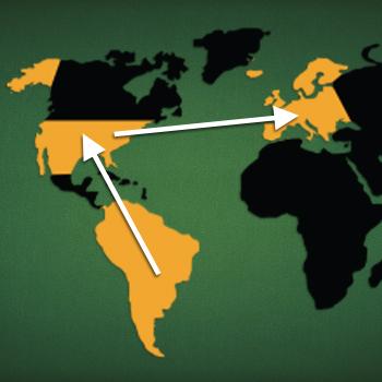 Landkarte: Ausbreitung Canasta