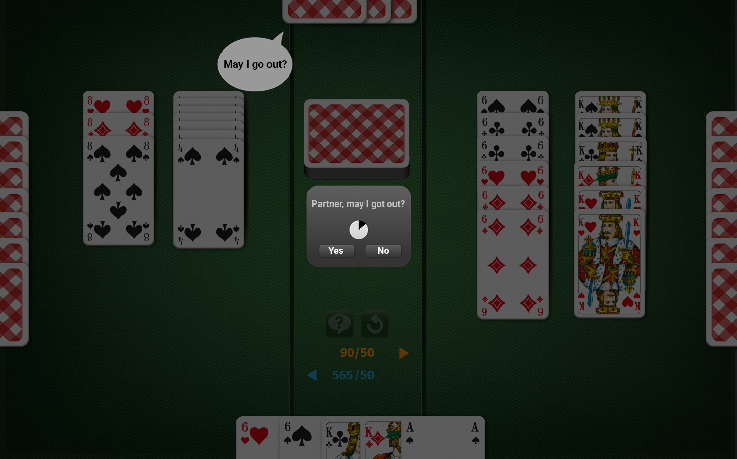 Lesson 4: Ask for Permission in 4-Player Canasta