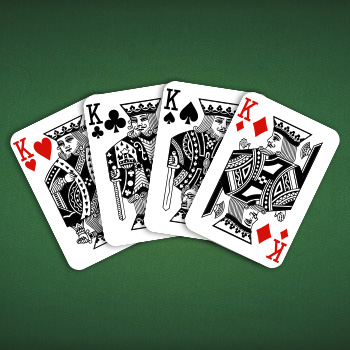 The Four Kings of the American Pinochle Pattern