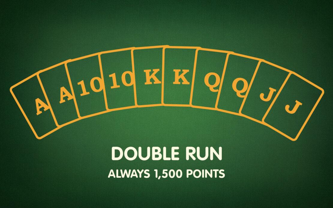 Pinochle Melds - Double Run