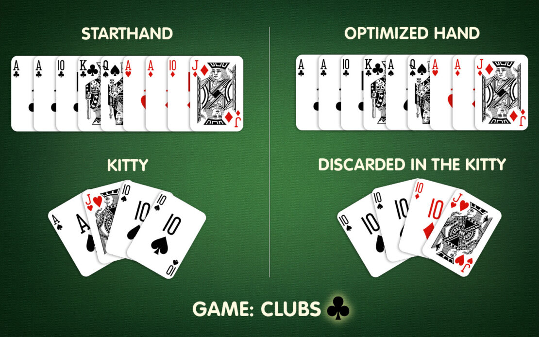 Pinochle: Example for Improving Hand Cards With the Kitty