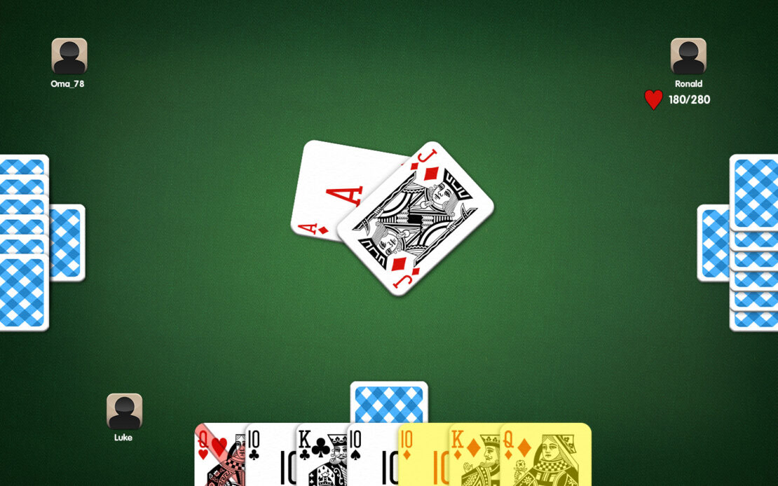 Pinochle Playing Field - Example Suit Compulsion