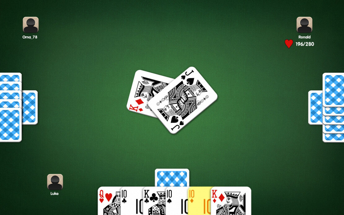Pinochle Playing Field - Example Trick Compulsion