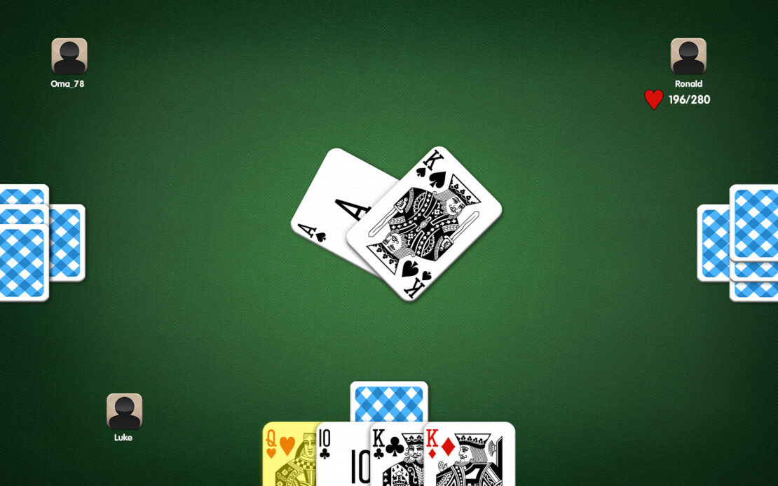 Pinochle Playing Field - Example Trump Compulsion