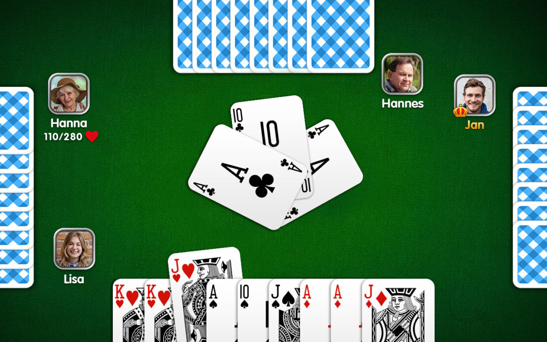 Pinochle Playing Field - Four Players
