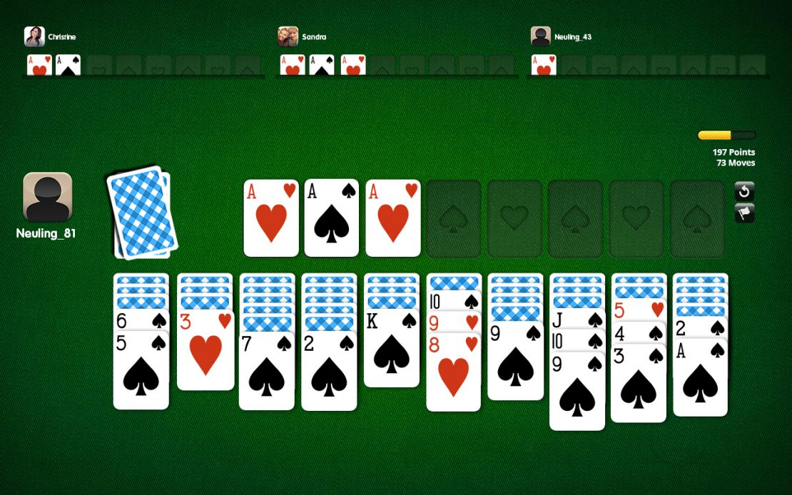 Playing Field Spider Solitaire