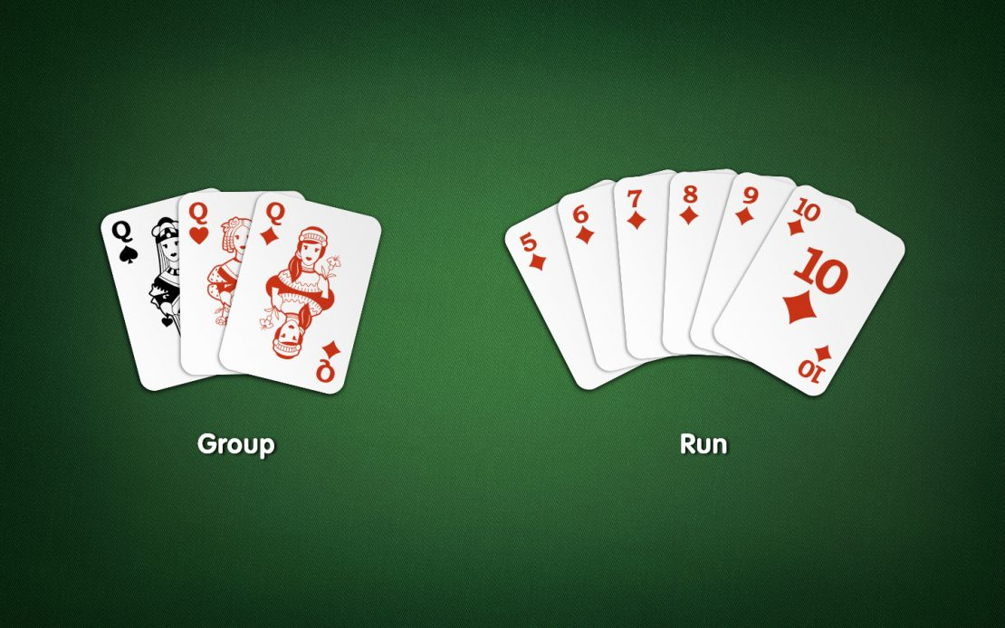 Rummy Melds: Groups and Runs