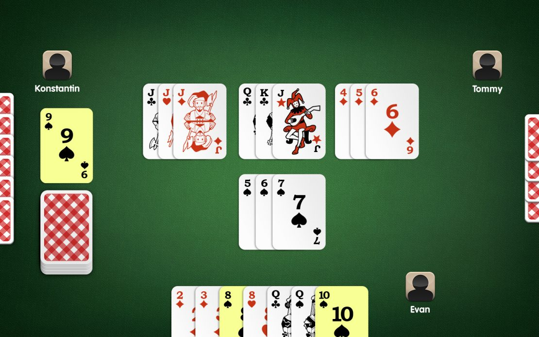 Rummy Playing Field: Drawing from the Discard Pile