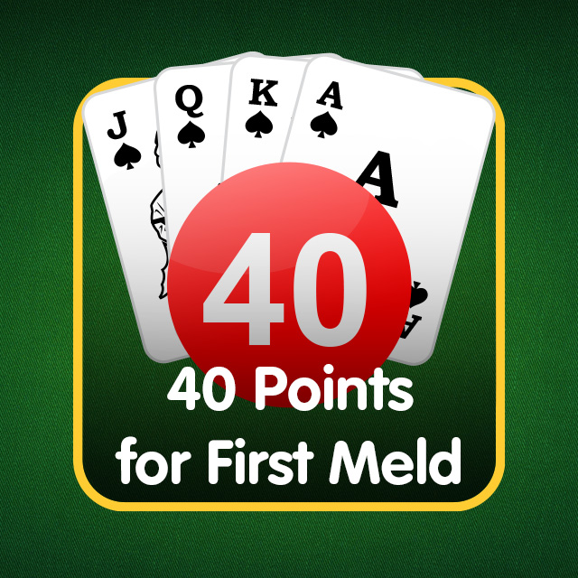 Rummy Icon: 40 Points for First Meld