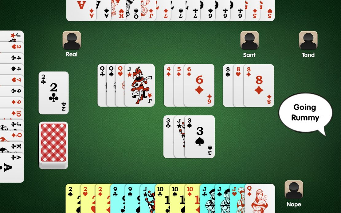 Rummy Four Players - Opponent Goes Rummy