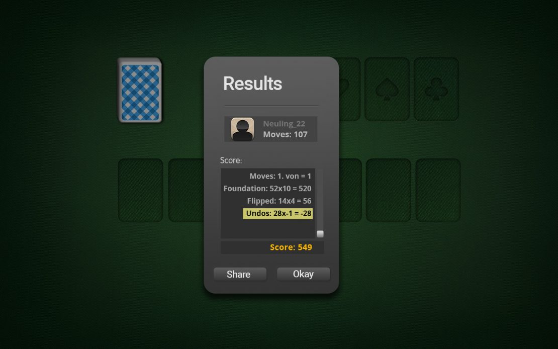 Example Evaluation Easthaven Solitaire