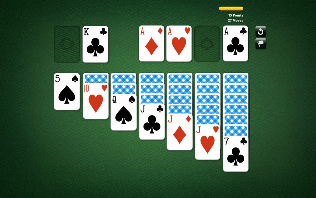 Solitaire Playing Field - Aces From the Stock