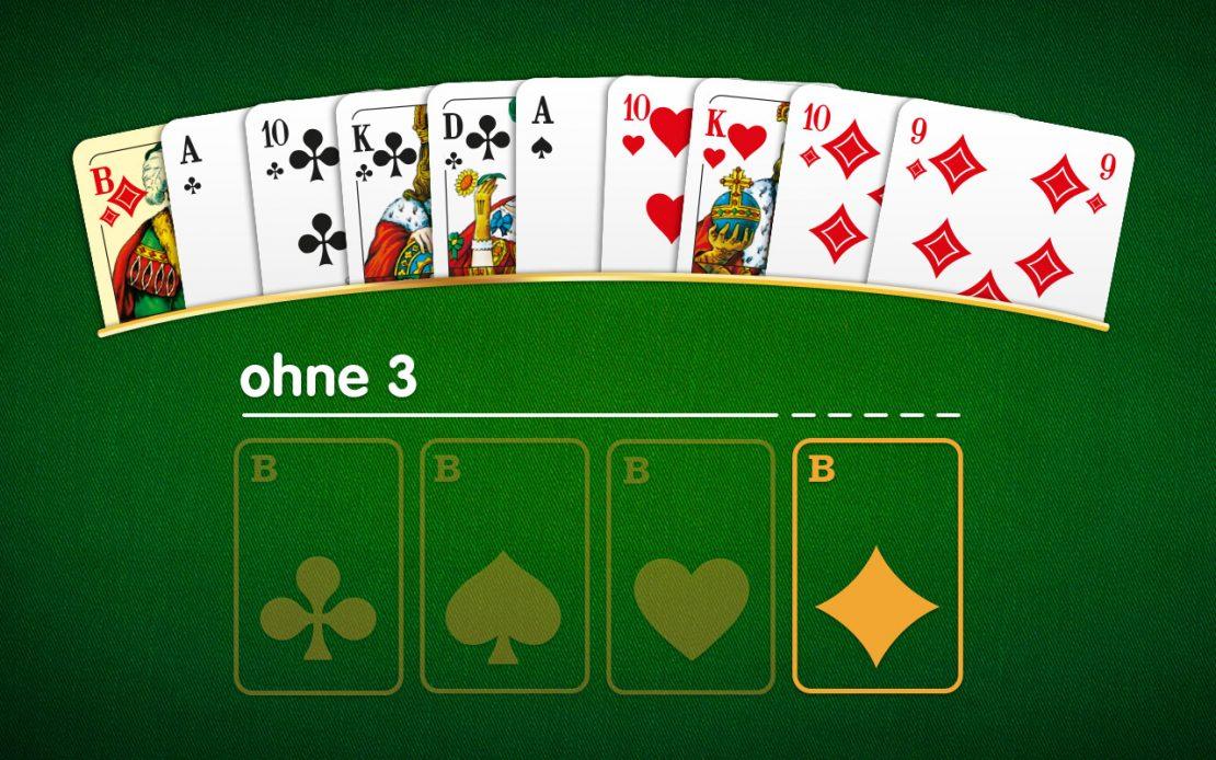 Skat-Beispiel: Blatt ohne drei