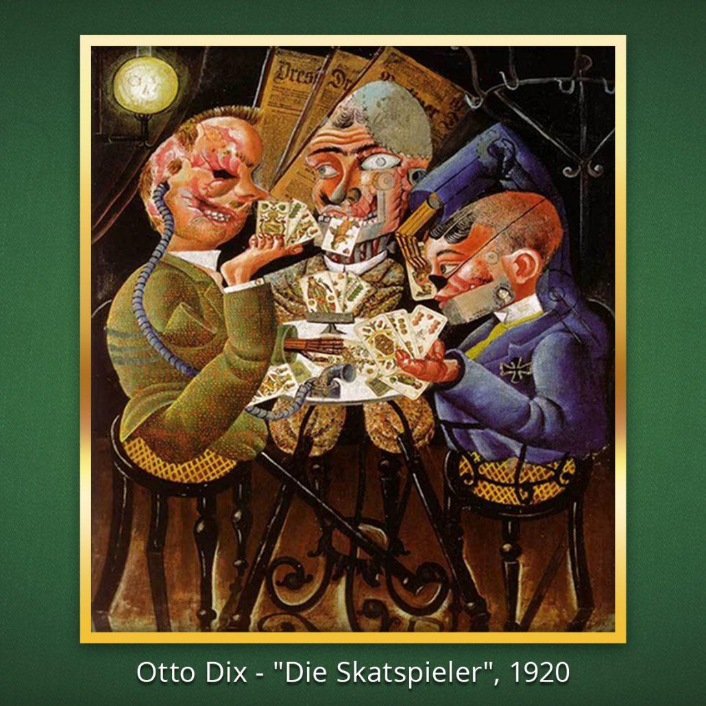 """Gemälde: Otto Dix -  """"Die Skatspieler"""", 1920"""