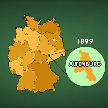 Landkarte Deutschland: Altenburg, Gründung deutscher Skatverband