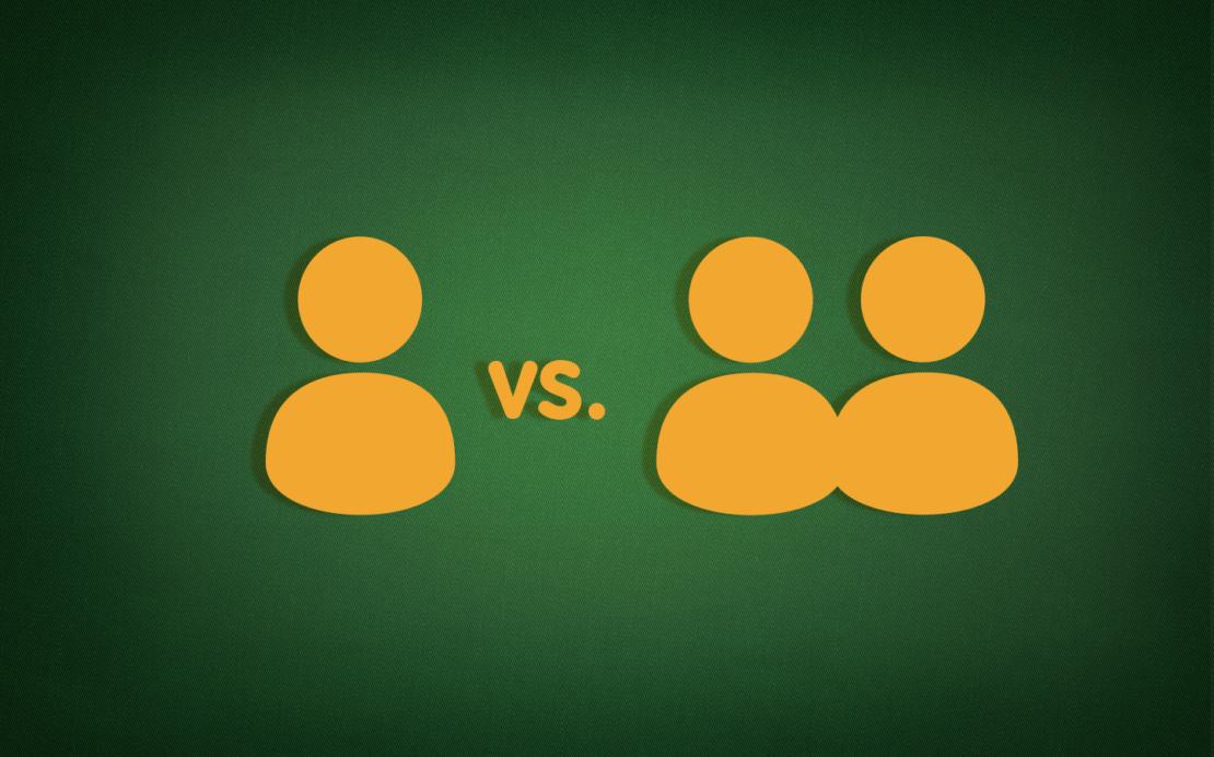 Skat-Parteien: Spieler-Aufteilung beim Skat