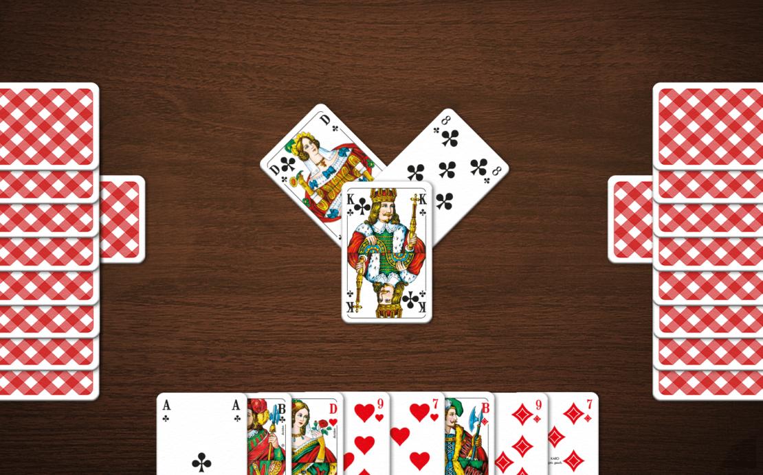 Beispiel Skat-Spielfeld