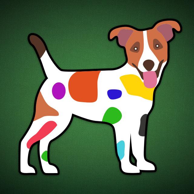 Skat-Icon bunter Hund