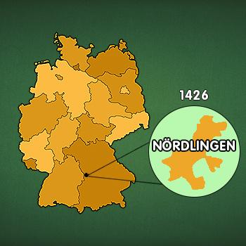 Landkarte Deutschland: Nördlingen