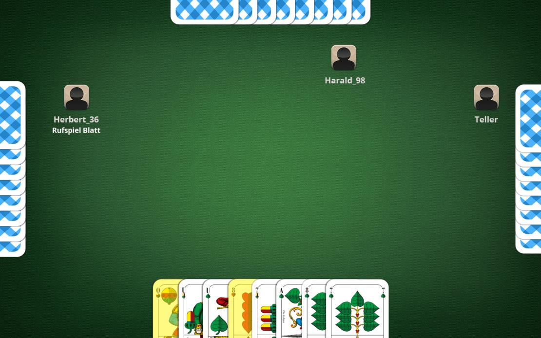 Schafkopf-Beispiel: Dem Spielmacher zuspielen
