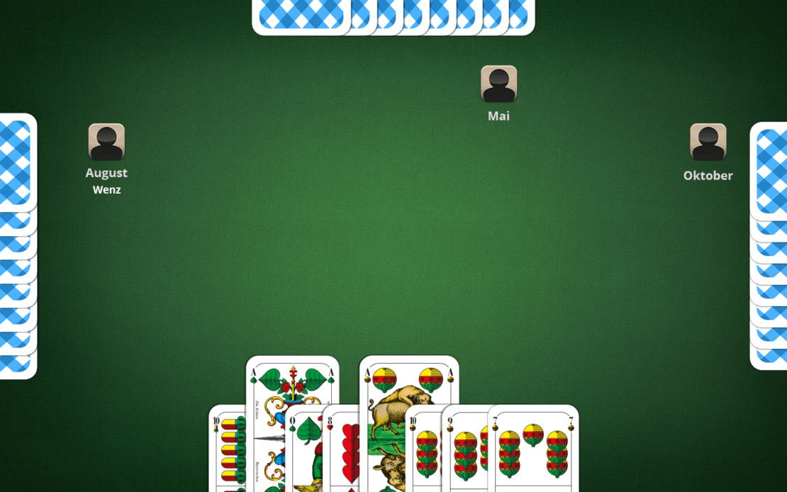 Beispiel Schafkopf-Hand: Sau aufspielen