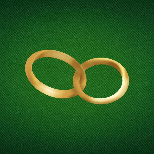 Doppelkopf Icon Hochzeit