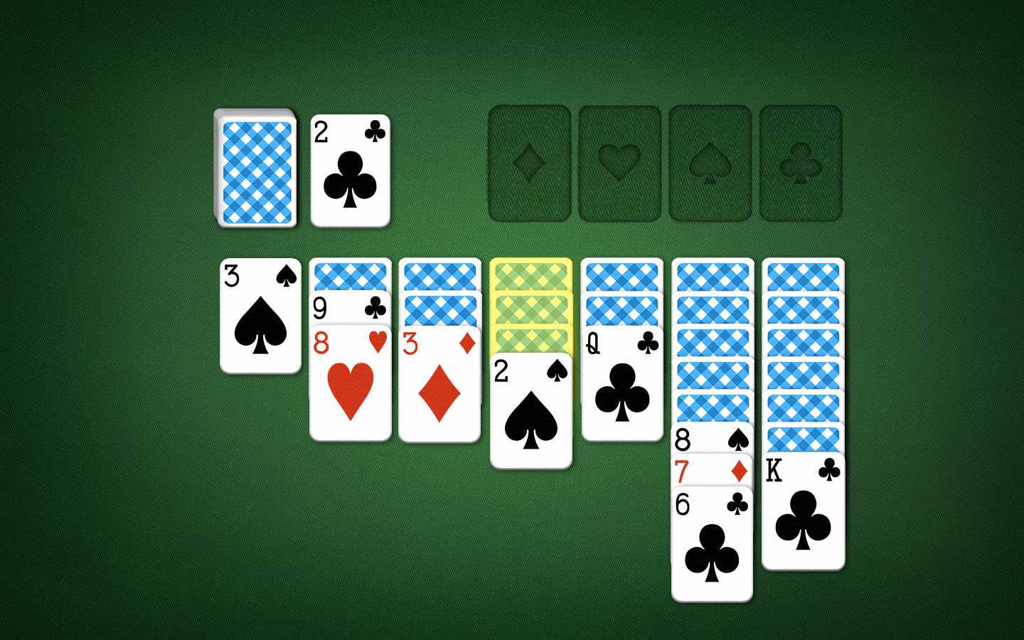 Solitaire Plaing Field - Freeing Cards