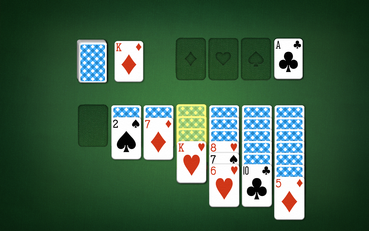 Solitaire Playing Field - King on Empty Panels